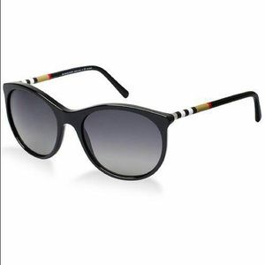 Burberry Black Polarized Women's Sunglasses B4145